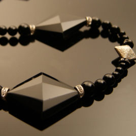 Black Diamond: Tourmaline & Agate Necklace