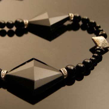 Black Diamond: Tourmaline & Agate Necklace
