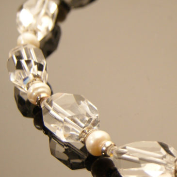 Ice Crystal and Pearl Necklace