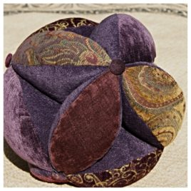 Sacred Geometry Energy Ball Pillow – 10″ Purple