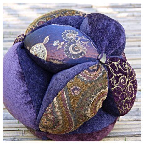 Sacred Geometry Energy Ball Pillow – 10″ Indigo